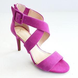 Jessica Simpson Suede Liddy Cross Strap Sandals